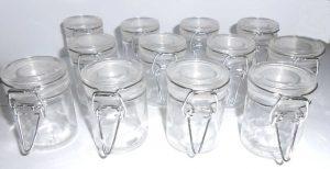barattoli vetro essiccazione malva